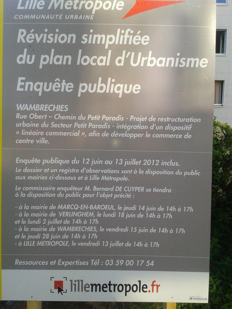 Révision du PLU wambrechies - registre disponible en mairie le jeudi 28 juin 2012 de 14 H à 17 H 2012-05-28-19.19.273-768x1024